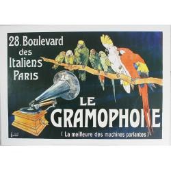 Affiche publicitaire dim : 50x70cm : LE GRAMOPHONE.