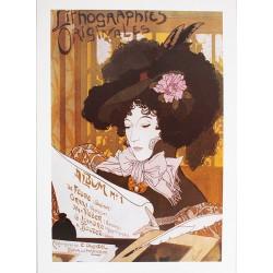 Affiche publicitaire dim : 50x70cm : LITHOGRAPHIES ORIGINALES