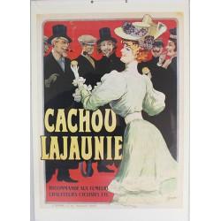 Affiche publicitaire cartonnée dim : 50x70cm épaisseur 3mn : CACHOU LAJAUNIE.