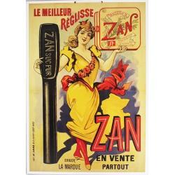Affiche publicitaire cartonnée dim : 50x70cm épaisseur 3mn : ZAN