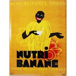 Plaque métal publicitaire 30 x 40 cm bombée : NUTRIBANANE.