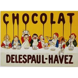 Carte Postale au format 15x21cm Chocolat Delespaul-Havez