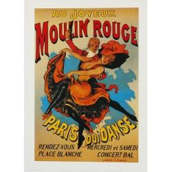 Carte Postale au format 15x21cm Au Joyeux MOULIN ROUGE.