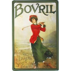 Plaque métal publicitaire 20x30cm bombée en relief : BOVRIL