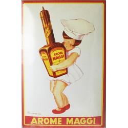 Plaque métal publicitaire bombée 20x30cm : Arome MAGGI
