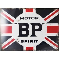 Plaque métal publicitaire 30x40cm plate : Motor 'BP' Spirit