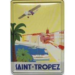 Plaque métal publicitaire : Port de Saint-Tropez.