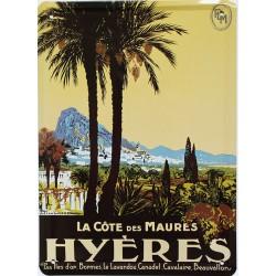 Plaque métal publicitaire 15x21cm plate : Hyères.