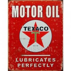 Plaque métal publicitaire 30x40cm plate : Motor oil TEXACO