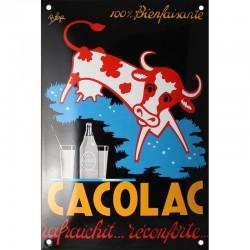 Plaque émaillée : CACOLAC.
