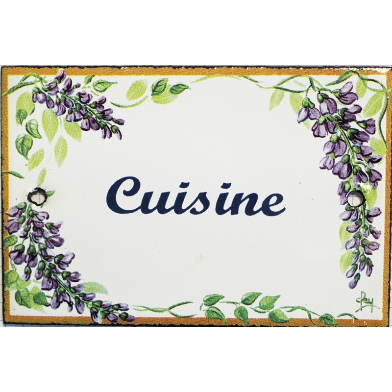Pour votre d coration plaque de service maill e plate for Plaque decorative pour cuisine