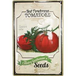Plaque métal publicitaire 20x30cm bombée en relief : La Tomate.