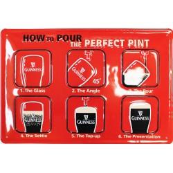 Plaque métal publicitaire 20x30cm bombée en relief  : How to Pour the PERFECT PINT