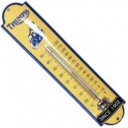 Thermomètre émaillé bombé hauteur 30cm :  TRIUMPH