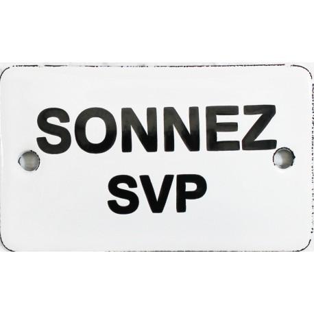 Plaque de service émaillée  : SONNEZ SVP.