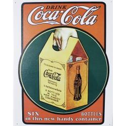 Plaque métal publicitaire 30x40cm plate : Coca Cola.