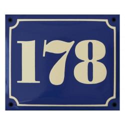 Numéro de maison bombé 18 x15 cm.