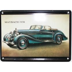 Plaque métal ou  magnet  dim. 11 x 8 cm : MAYBACH 1938.
