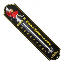 Thermomètre émaillé bombé hauteur 30cm :  BIÈRE DE MONTMORILLON