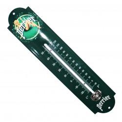Thermomètre émaillé bombé hauteur 30cm :  PERRIER