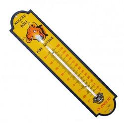 Thermomètre émaillé bombé hauteur 30cm : MUSEAU DE BOEUF