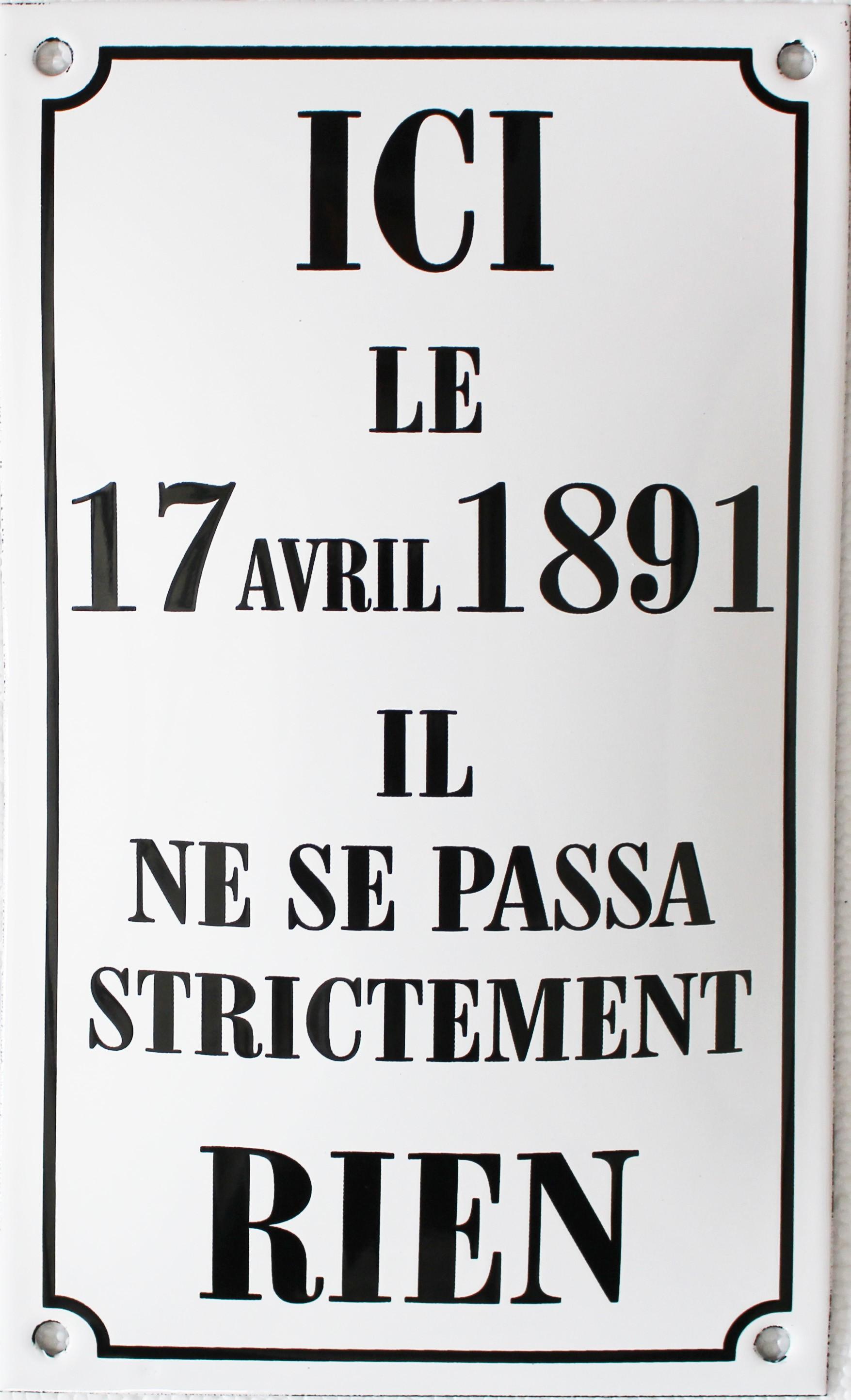 Plaque Maill E Humoristique Ici Le 17 Avril