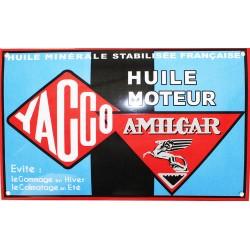 Plaque émaillée bombée : YACCO AMILCAR.