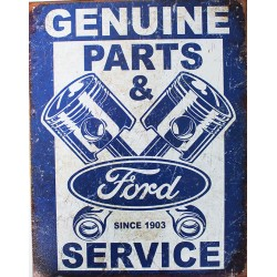 plaque métal publicitaire 30x40cm plate :  FORD GENUINE PARTS & SERVICE