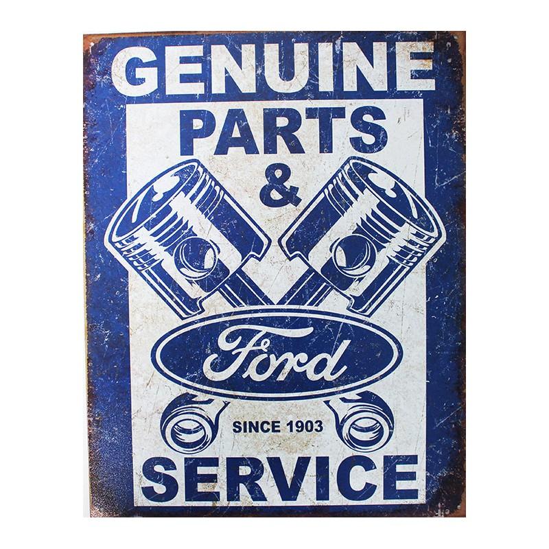 plaque m tal publicitaire 30x40cm plate ford genuine parts service. Black Bedroom Furniture Sets. Home Design Ideas
