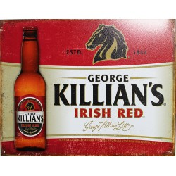 Plaque métal publicitaire plate 30x40cm plate : George KILLIAN'S.