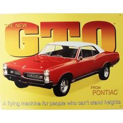 Plaque métal publicitaire 30 x 40 cm : Pontiac GTO
