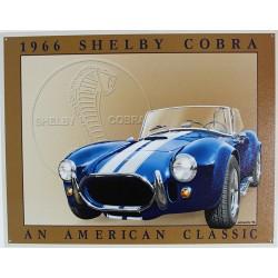 Plaque métal publicitaire 30 x 40 cm plate : SHELBY COBRA