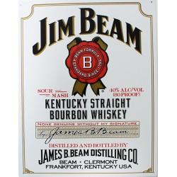 Plaque métal publicitaire 30x40 cm plate : JIM BEAM WHITE