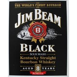 Plaque métal publicitaire 30x40 cm plate : JIM BEAM BLACK