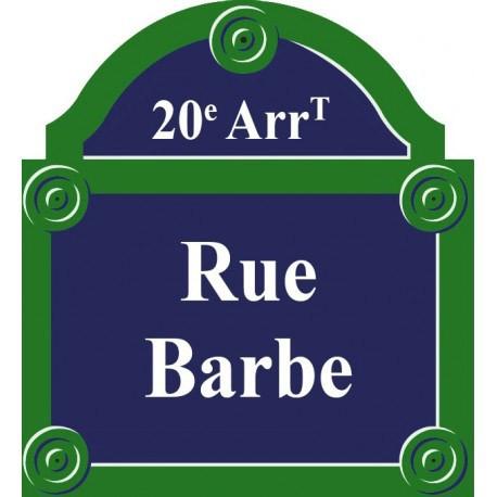 Plaque de rue émaillée Paris 40 x 30 cm avec fronton.