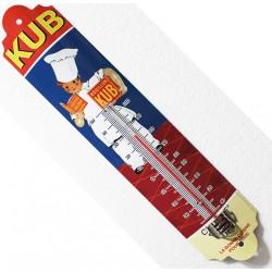 Thermomètre métal bombé hauteur 30 cm : BOUILLON KUB