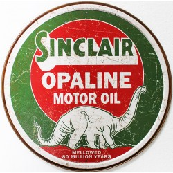 plaque publicitaire diamètre 30cm : SINCLAIR OPALINE MOTOR OIL