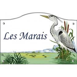 Plaque émaillée 13 x 20 cm : Décor MARAIS