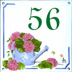 Plaque émaillée 15 x 15 cm : Décor Arrosoir
