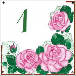 Plaque émaillée 15 x 15 cm : Décor Les Roses