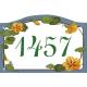 Plaque émaillée 13,5 x 20 cm : Décor CAPUCINES