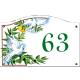 Plaque émaillée 13,5 x 20 cm : Décor COLOMBES