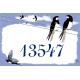 Plaque émaillée 15 x 22cm : Décor Hirondelles