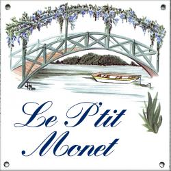 Plaque émaillée 15 x 15 cm : Décor Le Pont