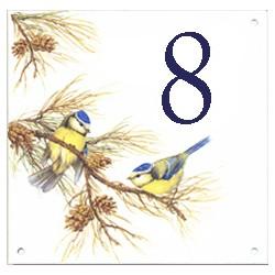 Plaque émaillée 15 x 15 cm : Décors oiseaux