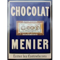Plaque émaillée café : CHOCOLAT MENIER.