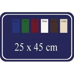 Plaque de Rue émaillée 25x45cm arrondie plate 4 trous