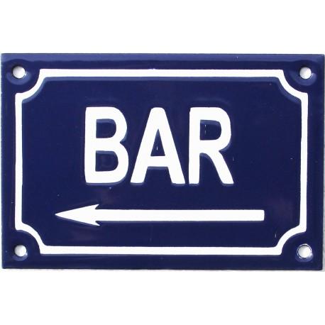 plaque de rue :  BAR A GAUCHE