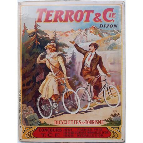 Plaque métal publicitaire 30x40cm plate  :  TERROT & Cie.