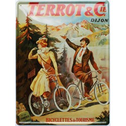 Plaque métal publicitaire 30x40cm bombée : TERROT & Cie.